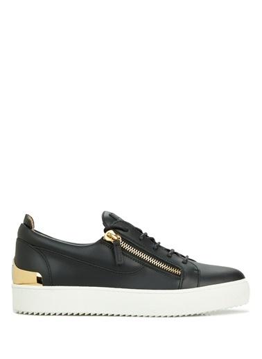 Giuseppe Zanotti Giuseppe Zanotti   Fermuar Detaylı Erkek Deri Sneaker 101625062 Siyah